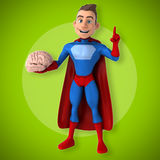 Fun superhero - 3D Illustration Royalty Free Stock Image