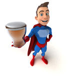 Fun superhero - 3D Illustration Royalty Free Stock Photos