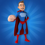 Fun superhero - 3D Illustration Stock Photography