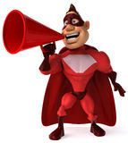 Red Superhero Royalty Free Stock Images