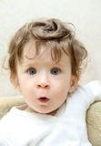 Fun surprised baby Royalty Free Stock Photography