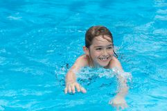 Fun swim Stock Photography
