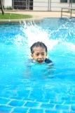 Fun In Swimming Pool Royalty Free Stock Photo
