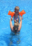 Fun in swimming pool Royalty Free Stock Image