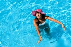 Fun in swimming pool Stock Photo