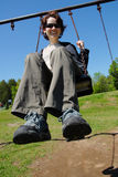 Fun on a swing Royalty Free Stock Photography