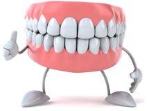 Fun teeth. Fun 3d teeth, 3d generated picture Stock Images