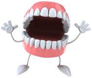 Fun teeth. Fun 3d teeth, 3d generated picture Royalty Free Stock Image