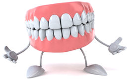 Fun teeth Stock Photography
