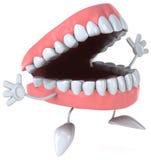 Fun teeth. Fun 3d teeth, 3d generated picture Royalty Free Stock Photos