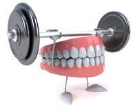 Fun teeth. Fun 3d teeth, 3d generated picture Stock Photo