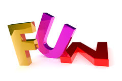 Fun Text. A Colourful 3d Rendered Fun Concept Illustration Stock Photo