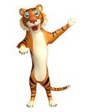 Fun Tiger cartoon character Stock Photography