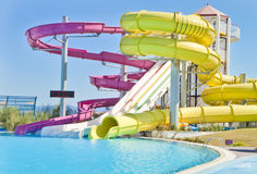 Fun Time in Aqua Park in Izmir Stock Image
