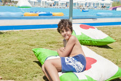 Fun Time in Aqua Park in Izmir Stock Photos