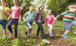 Fun time for children in summer camp Royalty Free Stock Photo