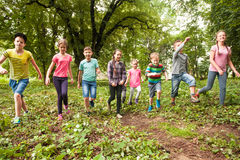 Fun time for children in summer camp Stock Photography