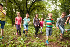 Fun time for children in summer camp Royalty Free Stock Photography