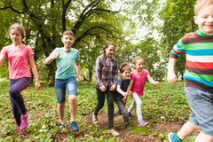 Fun time for children in summer camp Royalty Free Stock Image