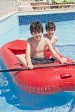 Fun Time in Swimming Pool Stock Image