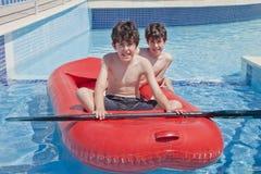 Fun Time in Swimming Pool Stock Photo