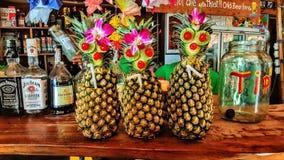 Fun times at Railay. Fun fruity Mai Tai cocktails in Railay Royalty Free Stock Photos
