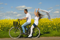 Fun together. Young couple have fun together Stock Images