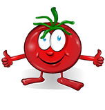 Fun tomato cartoon Royalty Free Stock Image