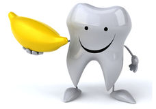 Fun tooth Royalty Free Stock Photo