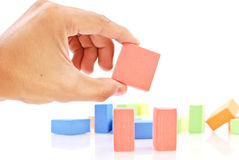 Fun with Toy Blocks Stock Photography