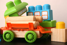 Fun Toys. Fun educational toys for children in bright colors Royalty Free Stock Images