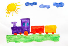 Fun train Royalty Free Stock Images