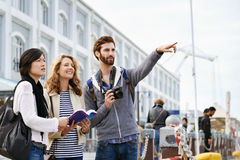 Fun travel friends Royalty Free Stock Photography