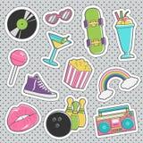 Fun trendy vintage sticker fashion badges