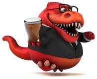 Fun Trex - 3D Illustration stock illustration