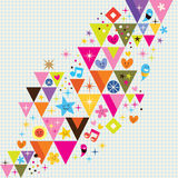 Fun triangles background Stock Photo
