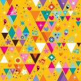 Fun triangles background Stock Photos