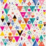 Fun triangles background Stock Photo