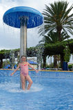 Fun in tropical pool Royalty Free Stock Images