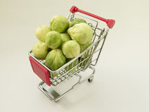 Fun truck with small Brussels sprouts Stock Photo