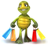 Fun turtle shopping Stock Image