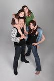 Fun and Unusual Vertical Family Portrait Royalty Free Stock Photos