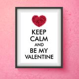 Fun Valentines Day vector card design Stock Images