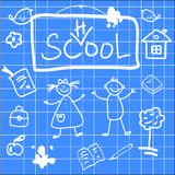 Fun vector illustration of back to school sketch Stock Images