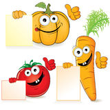 Fun vegetables Royalty Free Stock Image
