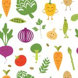 Fun vegetables pattern Royalty Free Stock Photo
