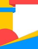 Fun vibrant colors cover design Stock Photography