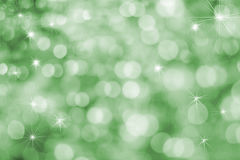 Fun Vibrant Green Holiday Background. With Twinkle Stars Stock Images