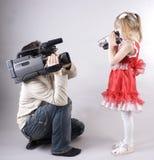 Fun video shooting Stock Photos