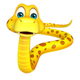 Fun walk Snake cartoon character Royalty Free Stock Photos